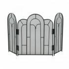 Abbey inspired 3 fold black fire guard