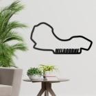 Albert Park Grand Prix Circuit Wall Art on a Grey Wall
