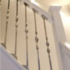 Alessi Single Bold Twist Stainless Steel Stair Spindle Fitted In Modern House