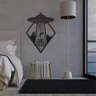 """Get in Loser"" Alien Wall Art in Situ in the Bedroom"