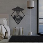 """I Want to Believe""Alien Wall Art in Situ in the Bedroom"
