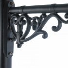 Close-up of the Ornate Heart Detail on the Capella wall Bracket