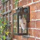 View of the Wall Light Mounted Flush on a Brick Wall