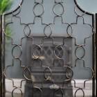 Antique Bronze Three Fold Gothic Fire Guard Close Up