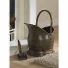 Coven Antique Bronze Finish Coal Scuttle with Shovel
