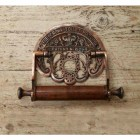 Antique Copper 'Crown' Toilet Roll Holder