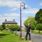 Antique Copper Finish Ornate Victorian Cast Iron Lamp Post 3m Scale Shot