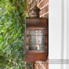 Antique Copper Nautical Inspired Flush Wall Light Side On View
