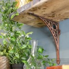 Antique Copper Traditional Iron Shelf Brackets