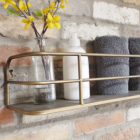 Antique Gold Industrial Style Shelf Close Up