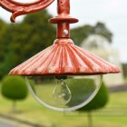 Antique Red Lamp Post Lantern Head