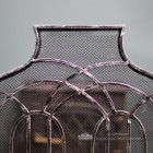 Antique Silver Arched Three Fold Fire Guard Close Up