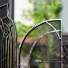 Arched Fire Screen With Gothic Detailing