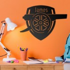 Black 'Arsenal Cannon' Personalised Wall Art