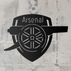 'Arsenal Cannon' Personalised Wall Art in Black