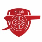 'Arsenal Cannon' Wall Art Personalised
