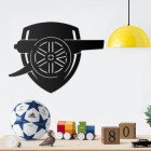"""Arsenal Cannon"" Wall Art in a Children's Play Room"