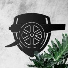"""Arsenal Cannon"" Wall Art in situ"