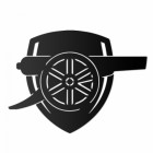 """Arsenal Cannon"" Wall Art in Black"