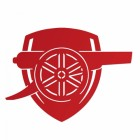 """""""Arsenal Cannon"""" Wall Art in Red"""