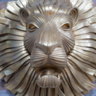Close-up of the Face of the Lion
