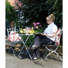 """Warston Groves"" Garden Furniture Set finsihed in Grey"
