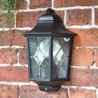 """Avebury Manor"" Traditional Half Lantern Wall Light in Situ"