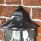 """View of the Top of the """"Avebury Manor"""" Traditional Half Lantern Wall Light"""