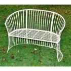 """Bench From the """"Avery"""" Cream Garden Furniture Set"""