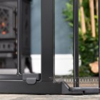 Close up of the Black Finish on the Baby Dan Black Hearth Fireguard