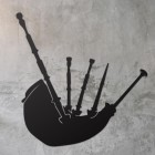 Bagpipe Wall Art on a Rustic Grey Wall