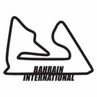 Bahrain International Racing Circuit Wall Art in Black