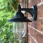 Bakewell Classic Black Wall Lantern With Clear Glass Lense