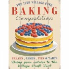 Vintage Village Fete Baking Competition Metal Sign