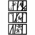 Bamboo Wall Art Finished in black
