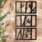 Bamboo Wall Art on a Stone Wall