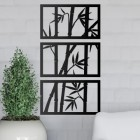 Bamboo Wall Art in Situ in the home