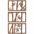 Bamboo Wall Art Finished in a Rustic Finish