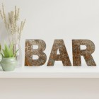 'BAR' individual letters