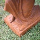 Base of the Cast Iron Praying Angel