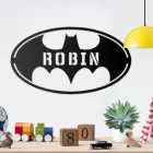 'Batman' Personalised Wall Art in a Child Play Room