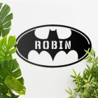 'Batman' Personalised Wall Art Finished in Black
