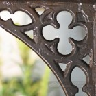 Close up of Coalbrookdale pattern on shelf bracket
