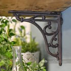 Natural rustic iron shelf brackets