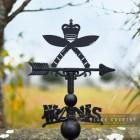 Royal Gurkha Rifles Regiment Weathervane Created From Cast Iron