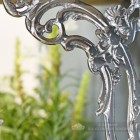 Close up of detailed casting on ornate shelf bracket