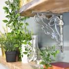 Bright Chrome Decorative Living Room Shelf Bracket