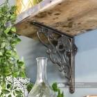Unique interior design iron shelf bracket