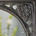 Detailed image of cast Tudor rose motif