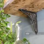 Cast Iron Tudor Rose Shelf Bracket 15 x 15cm